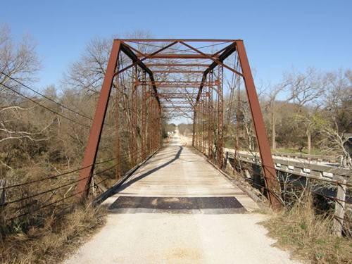 Lampasas River Adamsville Tx Thru Truss bridge