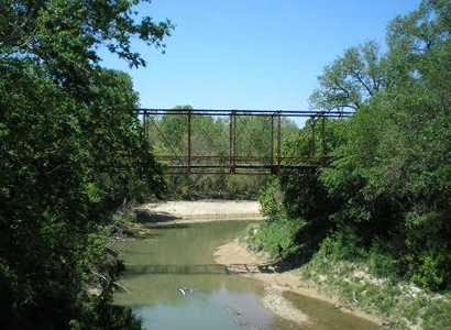 Bell County Texas iron bridge over George Branch on Sunshine Road