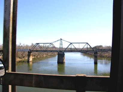 Brazoria Tx - Brazos River Railroad Swing Bridge