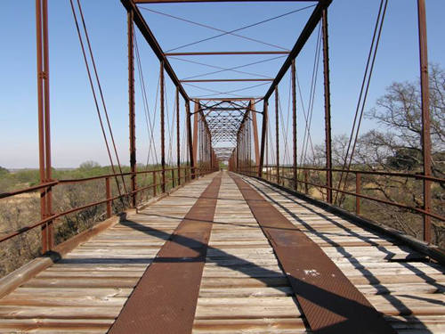 TX - Coleman County Colorado River thru truss bridge