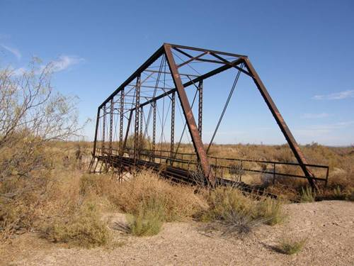 Imperial Through Truss Bridge,  Pecos River,  West Texas