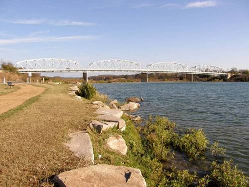 Roy Inks Bridge over Llano River, Llano Texas