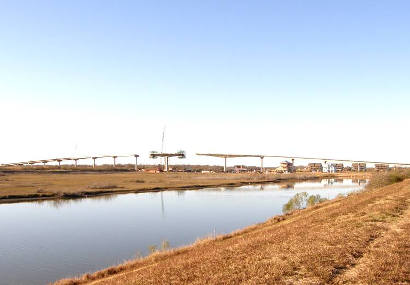 Matagorda Tx New Bridge under construction