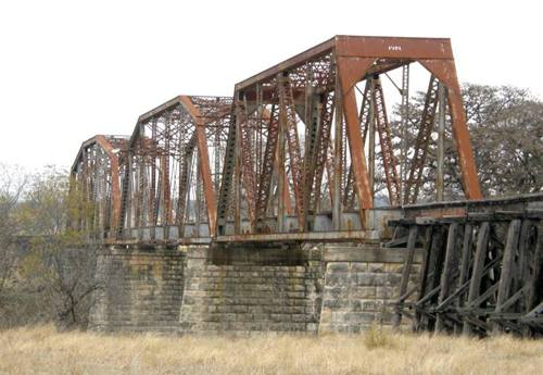 Waring Tx Closed Railroad Through Truss Bridge