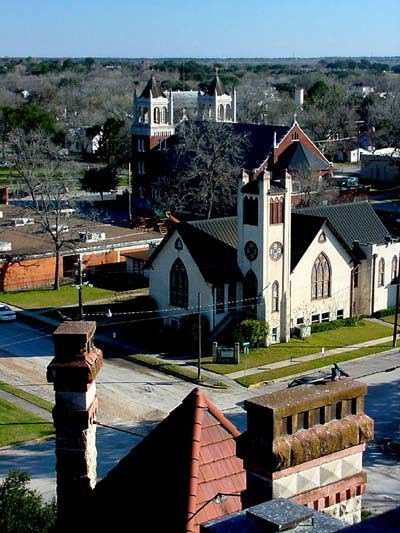 DeWitt County view of Cuero Texas  from Courthouse