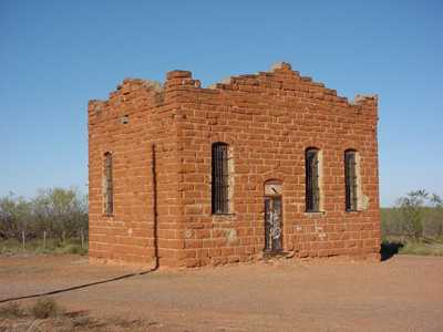 Old jail in Clairemont, Texas