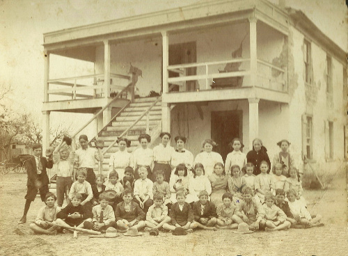 Karnes County TX Courthouse / Helena School 1900s