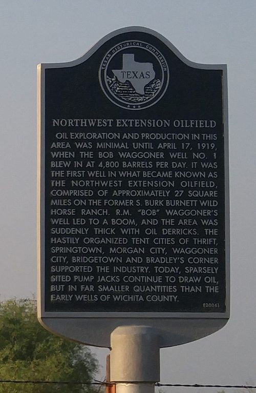 Wichita County TX - Norlthwest Extension Oilfield Hist Marker