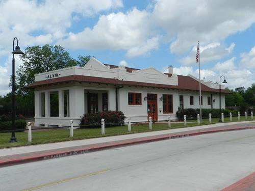 Alvin Tx Red Santa Fe Railroad Depot