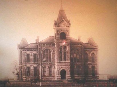 1897 Brazoria County courthouse original condition, Angleton, Texas