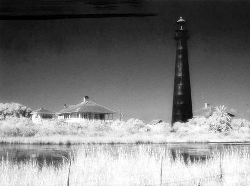 Bolivar Lighthouse Texas Infrared Photo