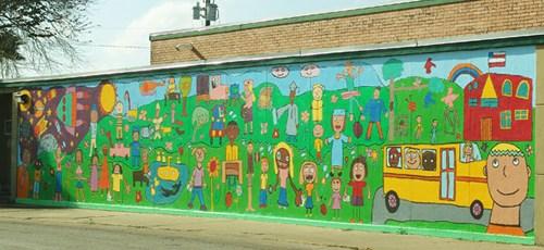 Los Fresnos Tx Elementary School Mural