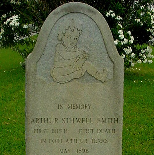 Port Arthur TX   Baby Arthur Stilwell Smith Tombstone