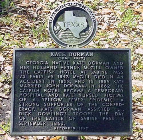 Kate Dorman Historical Marker in Sabine Pass  Cemetery