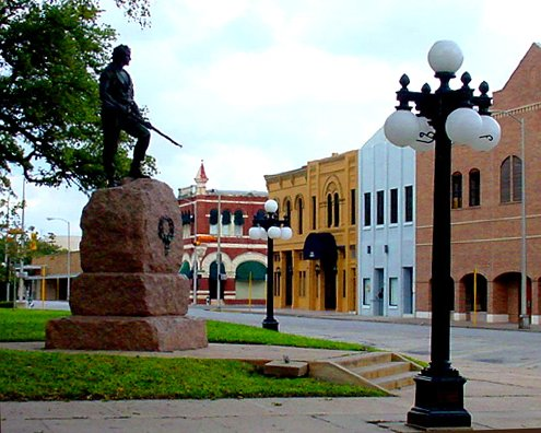 Downtown street scene in Victoria Texas
