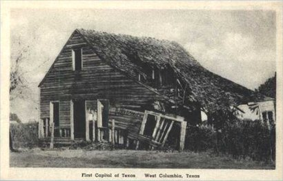 First Capitol Of The Republic Texas Old Post Card West Columbia