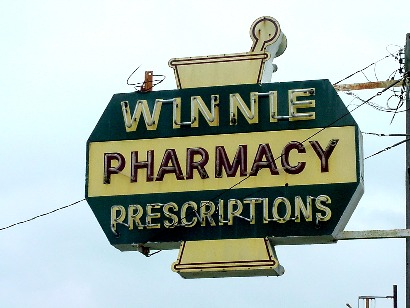 Winnie Texas Winnie Pharmacy Old Neon