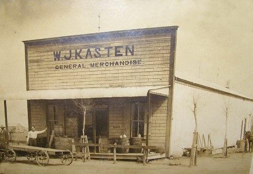 W J Kasten General Merchandise Refugio County Woodsboro Texas Old Photo