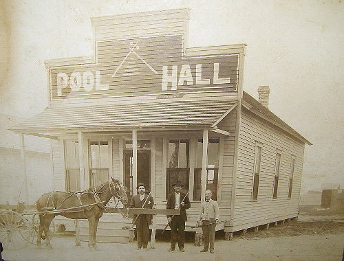 Pool Hall And Players Refugio County Woodsboro Texas Old Photo