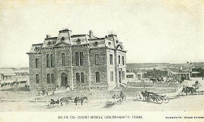 First (1890) Mills County courthouse, Goldthwaite, Texas