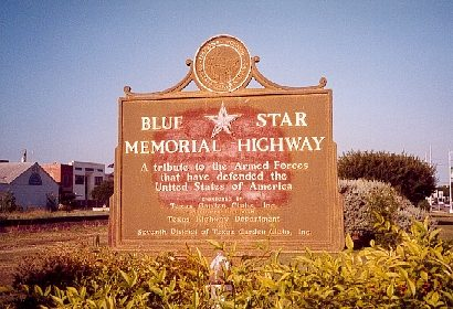 Blue Star Memorial Highway marker , Hondo TexasTexas
