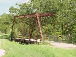 Joppa, Texas iron bridge