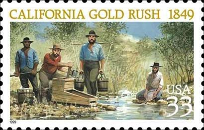 usps stamp commemorating the 1849 gold rush gold rush miners