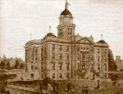 Anson Texas 1910 Jones County Courthouse Before Remodeling