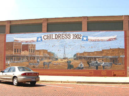 Childress Texas 1902 Mural
