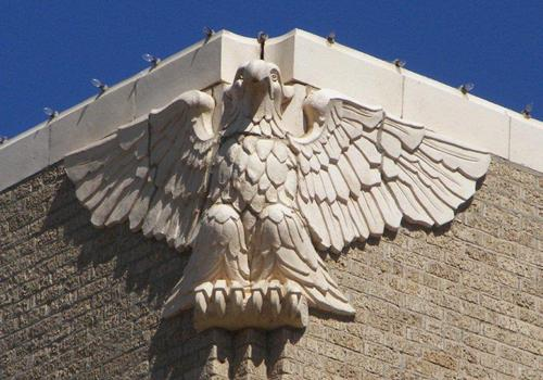 Moore County Courthouse eagle, Dumas Texas