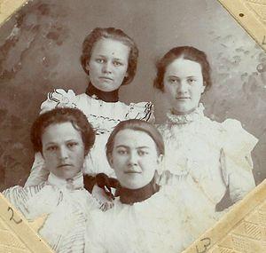 Goodnight College 1899 class photo , Texas