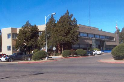 1955 Lamb County Courthouse In Littlefield