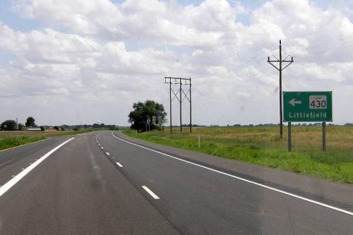 Littlefield Tx Road Sign