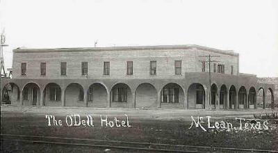 O Dell Hotel Mclean Texas Old Photo