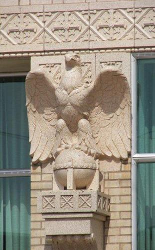 Pampa TX bank eagle