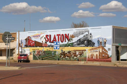 Slaton Tx - Slaton Heritage Mural after Restoration