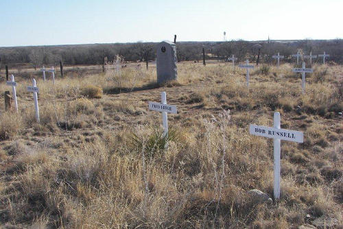 Tascosa TX - Boot Hill Cemetery graves