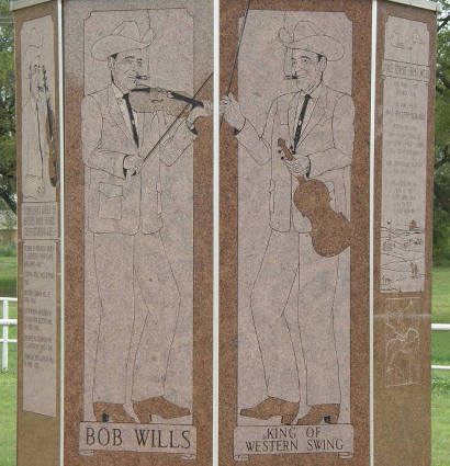 Bob Wills  - King of Western Swing - Texas Monument