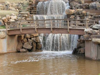 The falls in Wichita Falls, Texas