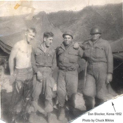 Dan Blocker and buddies n US Army in Korea