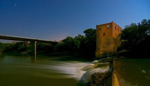 Eliasville TX Donnell Mill  by Brazos River