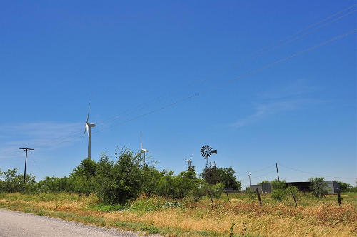 Wind Turbines, Buffalo Gap TX, US277W