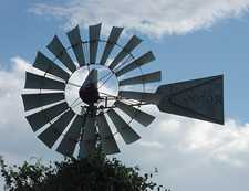 A windmill wheel