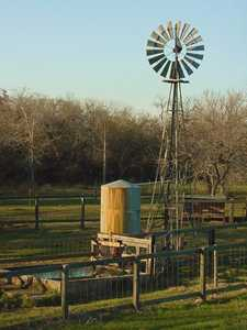 Windmill and cistern in Texas