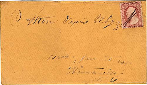 Alton TX - Denton County 1850s Postmark