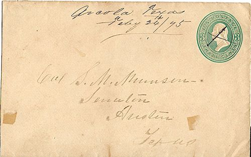 Arcola TX Fort Bend Co 1875 Postmark