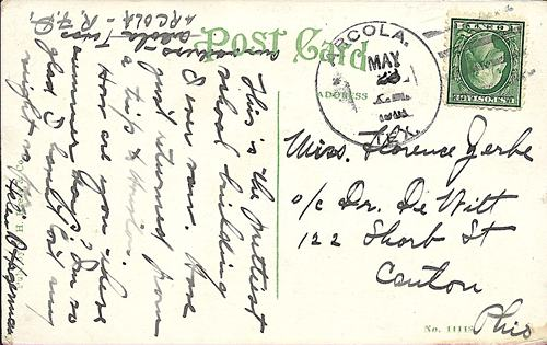 Arcola TX Fort Bend Co 1908 Postmark