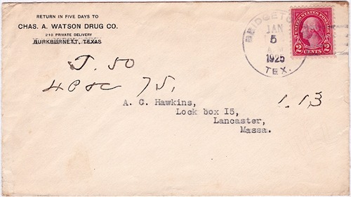 Bridgetown TX Wichita Co 1925 Postmark