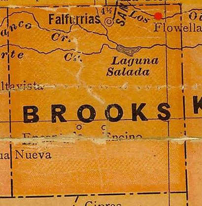 Brooks County TX vintage map