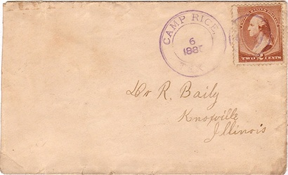 Camp Rice TX 1885 Postmark